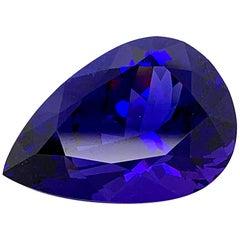 Tanzanite Ring Gem 51.15 Carat Pear Shape