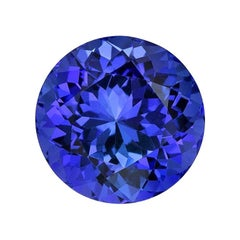 Tanzanite Ring Gem 5.54 Carat Round Unset Loose Gemstone