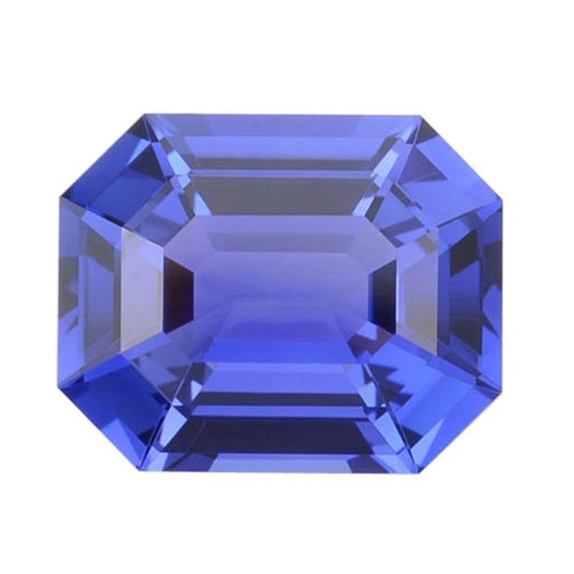 Tanzanite Ring Gem 5.84 Carat Unset Emerald Cut Loose Gemstone