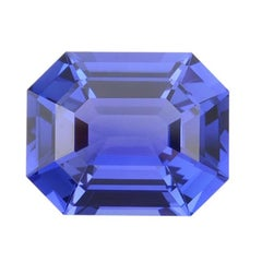 Tanzanite Ring Gem 5.84 Carat Emerald Cut Loose Unset Gemstone