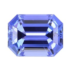 Tanzanite Ring Gem 7.38 Carat Emerald Cut Loose Unset