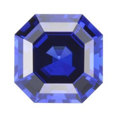 Tanzanite Ring Gem 8.23 Carat Asscher Cut Loose Unset Gemstone