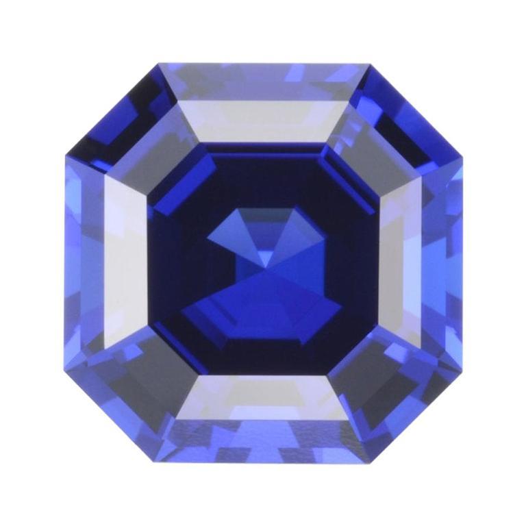 Tanzanite Ring Gem 8.23 Carat Asscher Cut Loose Unset Gemstone For Sale