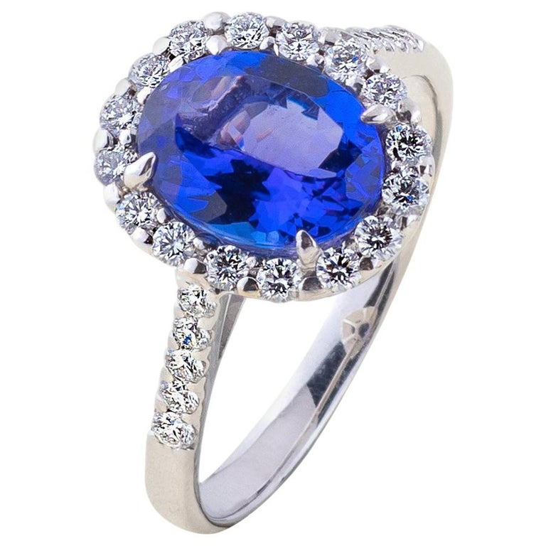 Tanzanite Ring with Diamonds For Sale