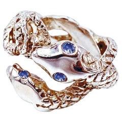 Snake Ring Cocktail Ring Tanzanite Bronze Dauphin