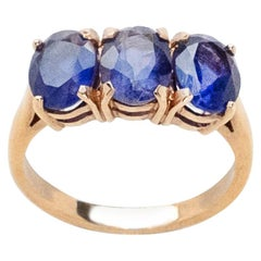 Tanzanite Trio Cocktail Ring by Love and Object