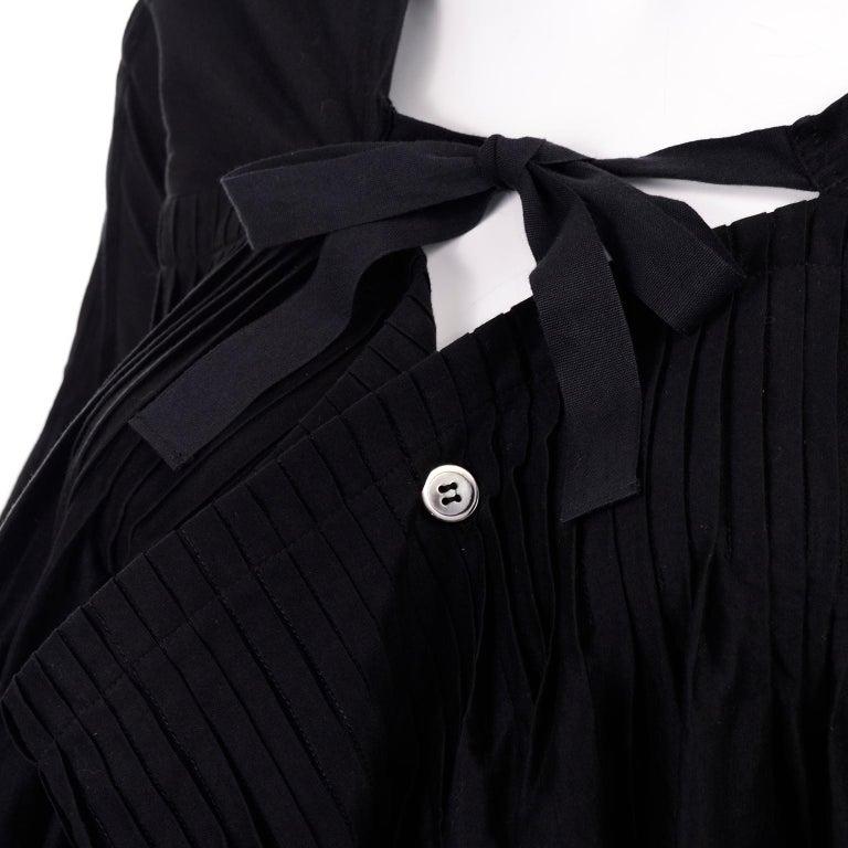Tao Comme des Garcons New With Original Tags Black Cotton Avant Garde Top Medium For Sale 6