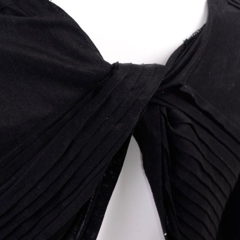 Tao Comme des Garcons New With Original Tags Black Cotton Avant Garde Top Medium For Sale 8