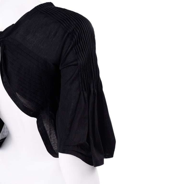 Tao Comme des Garcons New With Original Tags Black Cotton Avant Garde Top Medium For Sale 9