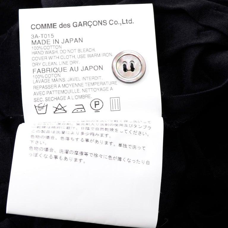 Tao Comme des Garcons New With Original Tags Black Cotton Avant Garde Top Medium For Sale 11