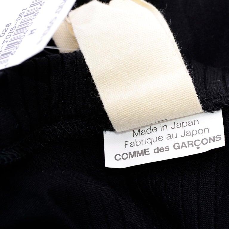 Tao Comme des Garcons New With Original Tags Black Cotton Avant Garde Top Medium For Sale 12