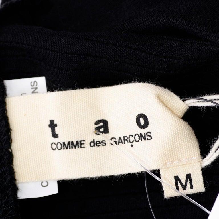 Tao Comme des Garcons New With Original Tags Black Cotton Avant Garde Top Medium For Sale 13