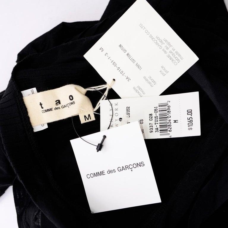 Tao Comme des Garcons New With Original Tags Black Cotton Avant Garde Top Medium For Sale 14