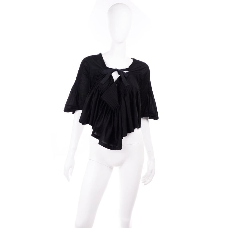 Tao Comme des Garcons New With Original Tags Black Cotton Avant Garde Top Medium In New Condition For Sale In Portland, OR