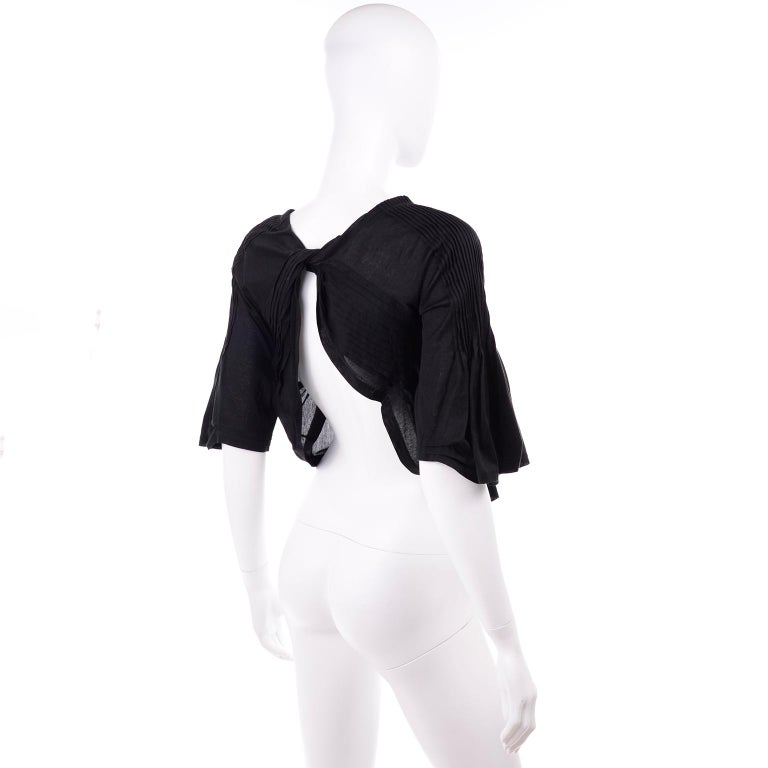 Tao Comme des Garcons New With Original Tags Black Cotton Avant Garde Top Medium For Sale 3