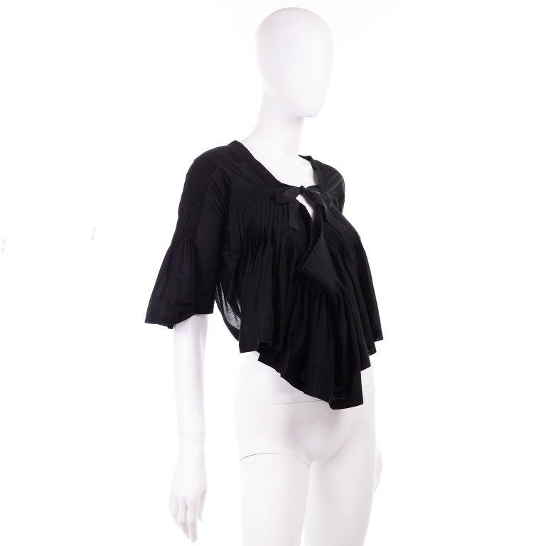 Tao Comme des Garcons New With Original Tags Black Cotton Avant Garde Top Medium For Sale 4