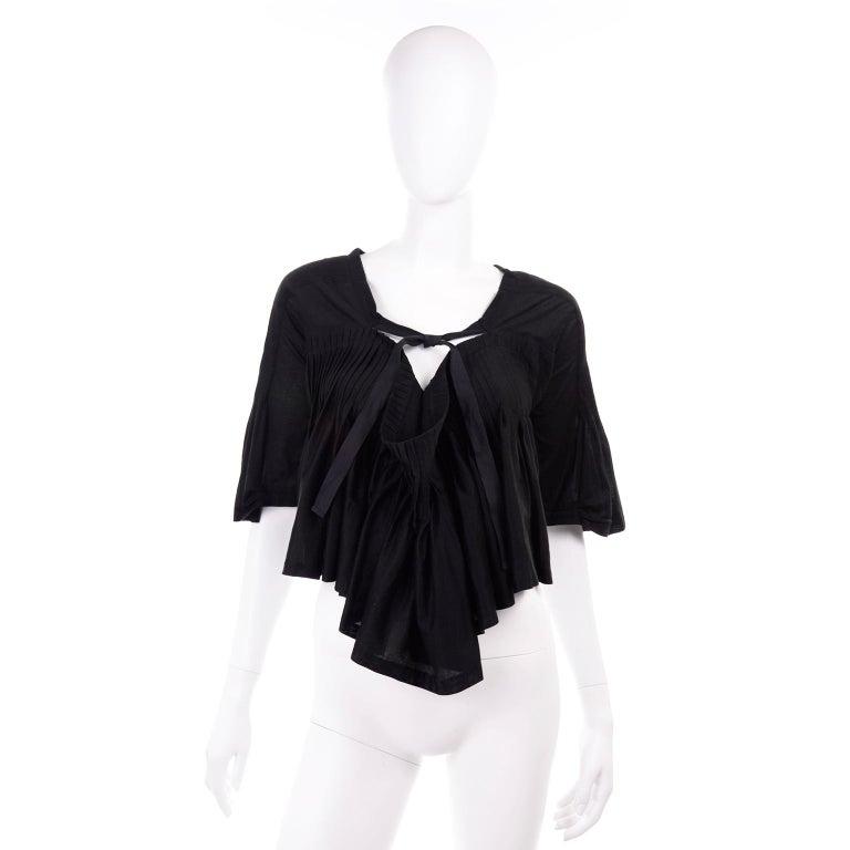 Tao Comme des Garcons New With Original Tags Black Cotton Avant Garde Top Medium For Sale 5