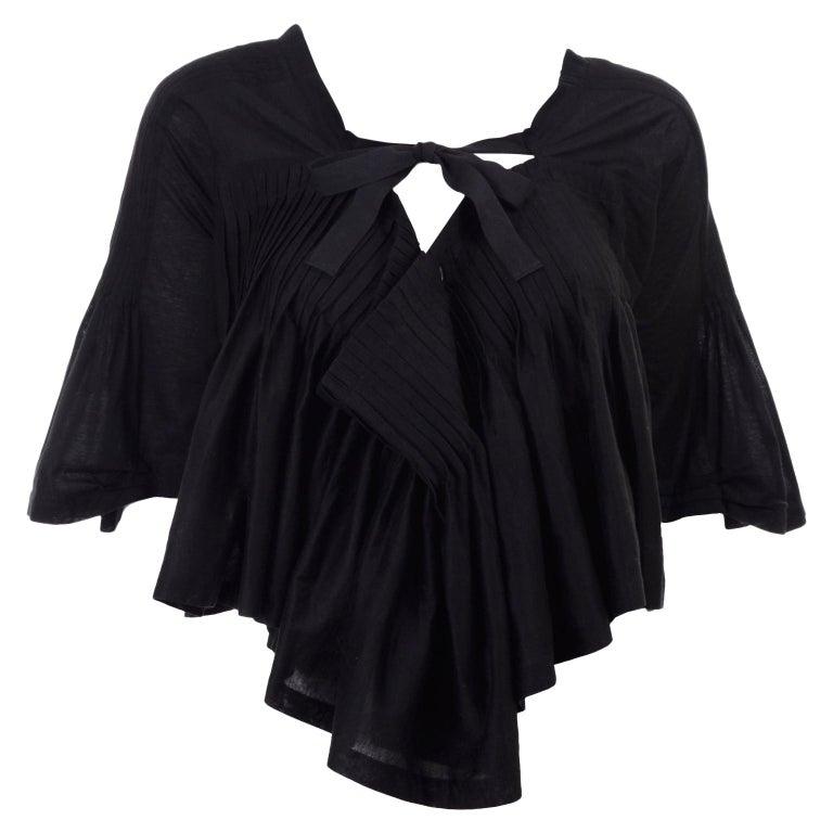Tao Comme des Garcons New With Original Tags Black Cotton Avant Garde Top Medium For Sale