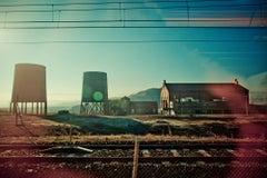 Homage to Giorgio de Chirico - 21st Century, Color, Blue, Contemporary, Landscap
