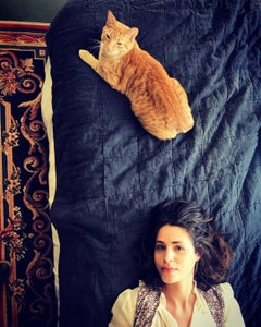 Stefan the Cat and Susanna the Human, 21st Century, Figurative Photography,