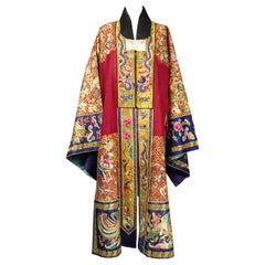 Taoist Chinese Ceremonial Golden Embroidered Coat - China Winter 1874