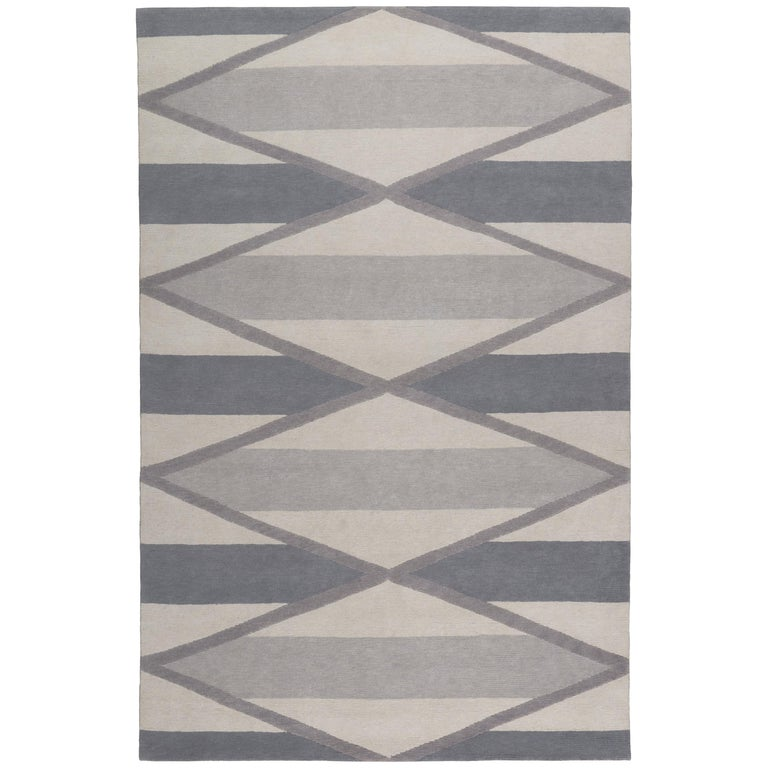 Taos Hand-Knotted 10x8 Rug in Wool by Katrin Cargill For Sale