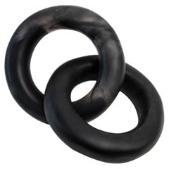 Tapalpa Handmade Black & Clear Resin Chain Sculpture, in Stock