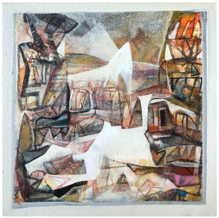 Set of Benaras Series, Acrylic on Canvas, Brown by Contemporary Artist