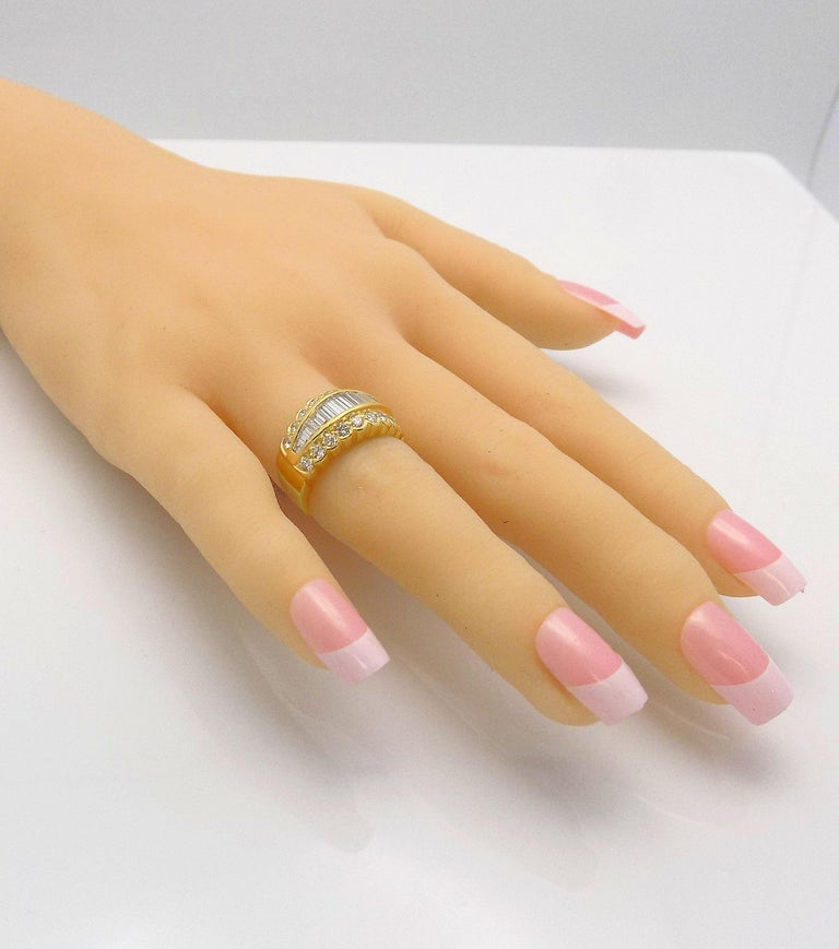 Tapered Baguette Diamond Band For Sale 2