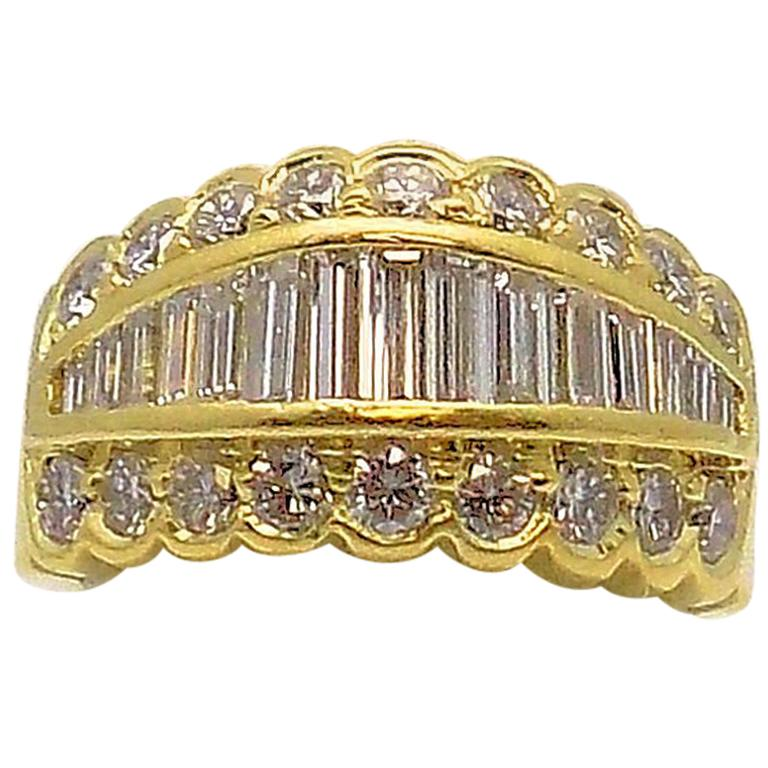 Tapered Baguette Diamond Band For Sale