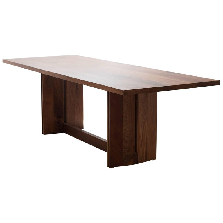 Tapered Dining Table in Solid Walnut For Sale