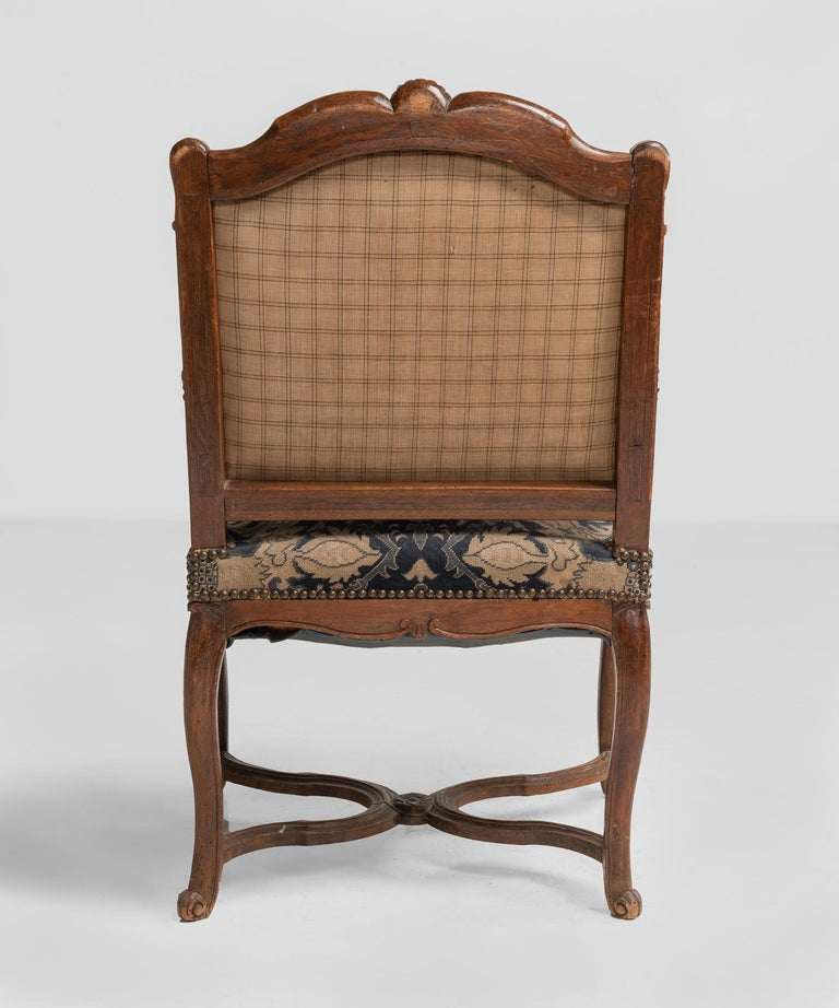 Tapestry Armchairs, England, circa 1890 In Good Condition For Sale In Culver City, CA