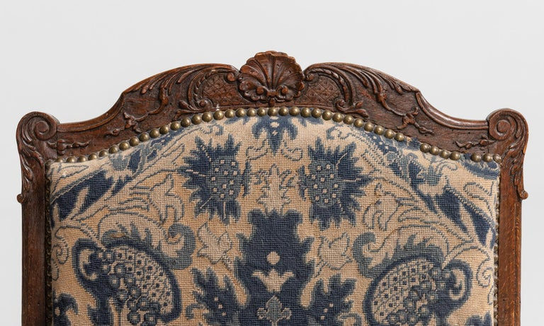 Late 19th Century Tapestry Armchairs, England, circa 1890 For Sale