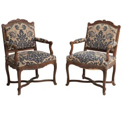 Tapestry Armchairs, England, circa 1890