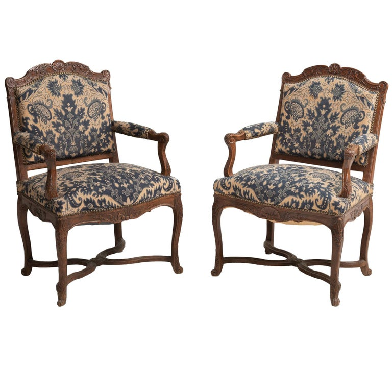 Tapestry Armchairs, England, circa 1890 For Sale