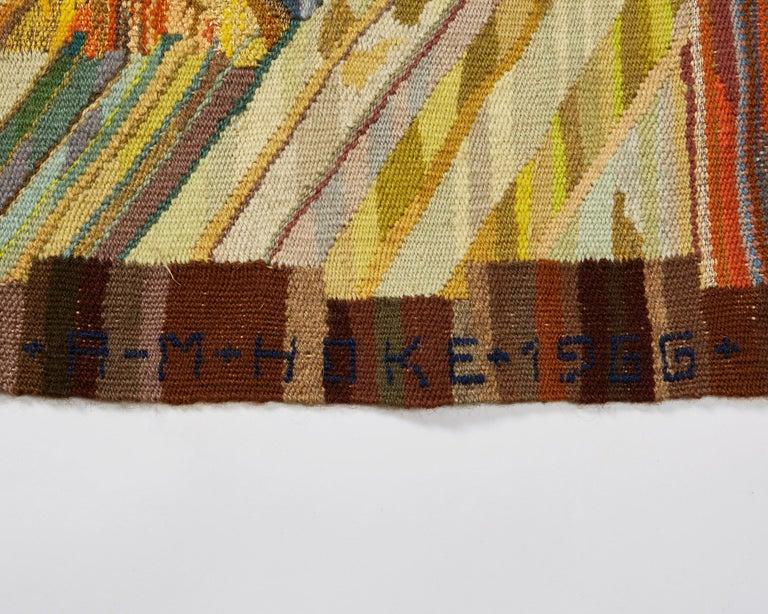 Scandinavian Modern Tapestry by Anna-Maria Hoke, Sweden, 1966