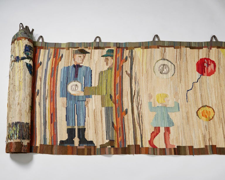 Tapestry by Anna-Maria Hoke, Sweden, 1966 In Good Condition In Stockholm, SE
