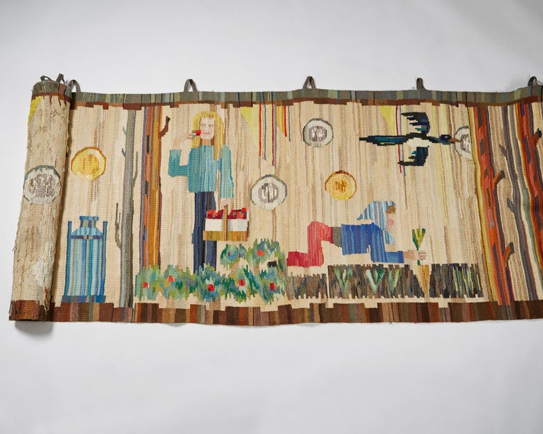 Mid-20th Century Tapestry by Anna-Maria Hoke, Sweden, 1966