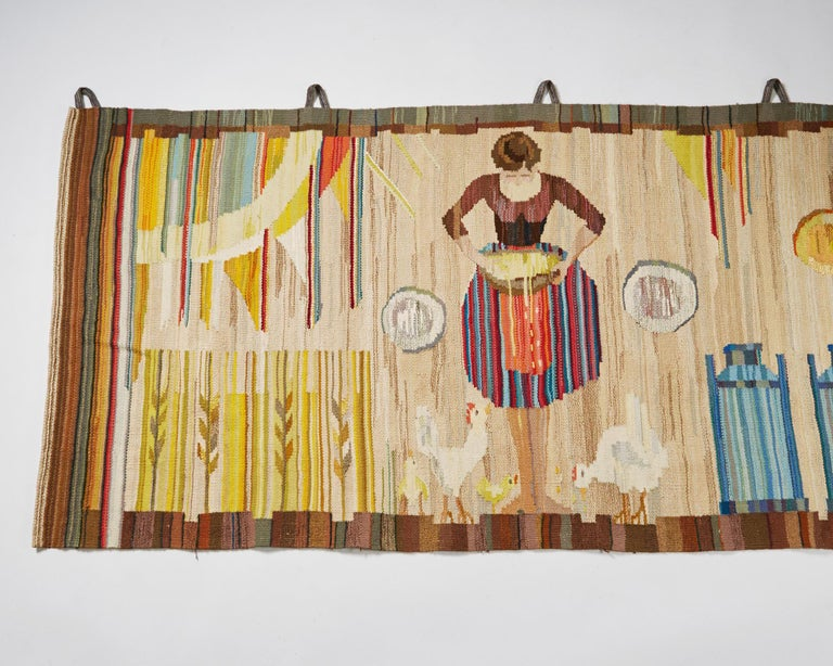 Wool Tapestry by Anna-Maria Hoke, Sweden, 1966