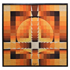 Tapestry by Georges Vaxelaire, Belgium, 1970s