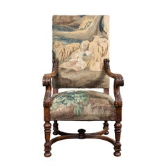 Tapestry Covered, Period Armchair