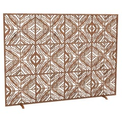 Tapestry Fireplace Screen in a Hand Painted African Gold Finish