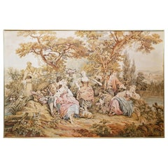 Tapestry French Rustic Style Aubusson Baroque Louis XV, France