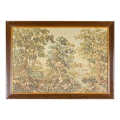 Tapestry from the Interwar Period in a Wooden Frame