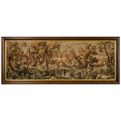 Tapestry from the Interwar Period in an Oak Frame