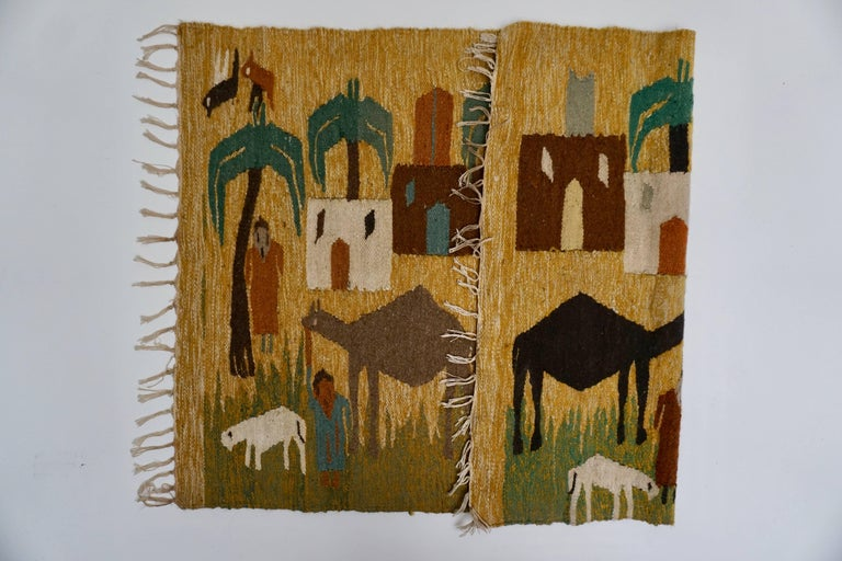 Tapestry in Wool from the Studio of Ramses Wissa Wassef For Sale 3
