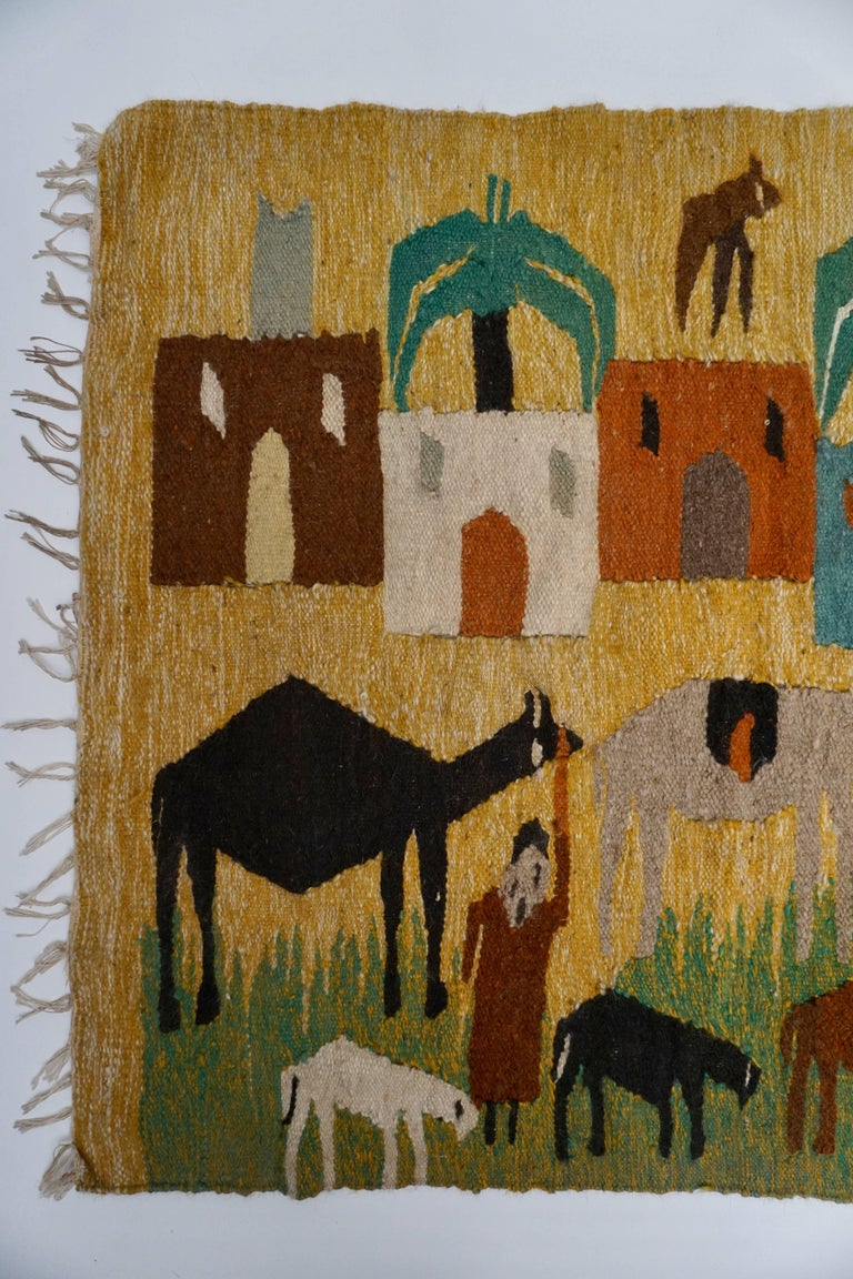 Mid-Century Modern Tapestry in Wool from the Studio of Ramses Wissa Wassef For Sale