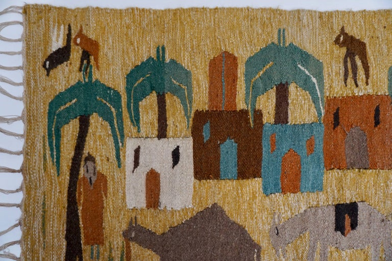 Unknown Tapestry in Wool from the Studio of Ramses Wissa Wassef For Sale