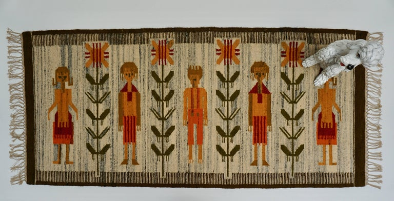 Hand-Woven Tapestry in Wool For Sale