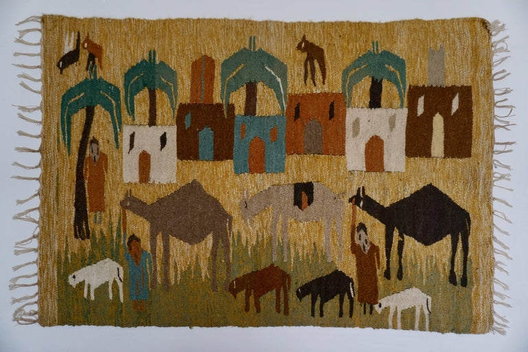 Tapestry in Wool from the Studio of Ramses Wissa Wassef In Good Condition For Sale In Antwerp, BE
